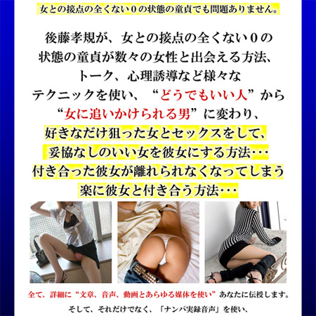 後藤孝規が独自で開発したWoman master Project
